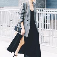 blazer x maxi dress